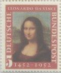 ドイツ切手 1952年 レオナルド・ダ・ビンチ誕生