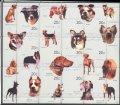 キルギス切手 1999年 犬 シート