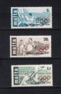 マルタ切手  1976年 モントリオールオリンピック 3種