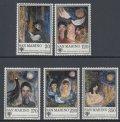 サンマリノ切手 1979年 児童年 絵画 5種