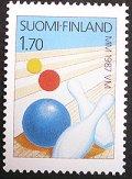 フィンランド1987年世界ボウリングチャンピオン 切手