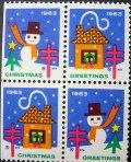 アメリカ1963年クリスマスシール