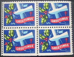 画像1: アメリカ1949年クリスマスシール