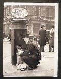 イギリス ポストカード イギリス1930年代 郵便ポストと郵便集配