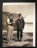 イギリス ポストカード イギリス1934年英ウェールズ南スタック灯台で配達するポストマン