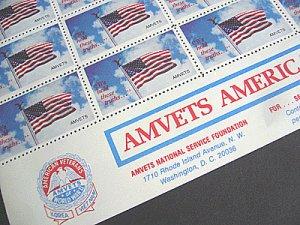 画像2: アメリカ クリスマスシール AMVETS ローカル シート