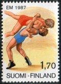 フィンランド切手 1987年 スポーツ レスリング 欧州選手権