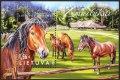 リトアニア切手 2016年 馬 小型シート