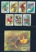 マダガスカル切手 1993年 花 ユリ 8種 小型シート