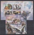 コモロ諸島切手 2011年 フクロウ  小型シート