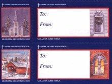 他の写真1: アメリカ クリスマスシール 2000年 馬そり 教会