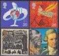 イギリス切手 1999年 千年紀 旅行 4種