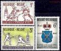 ベルギー切手 1963年 フェニシング 紋章 3種