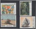 フランス切手 絵画 1987年 美術切手 ファン・フェルデ ブーダン カミーユ・ブリア アントワーヌ・ペブスナー 4種