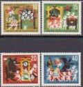 ドイツ切手 1963年 社会福祉 グリム童話 狼と7匹の子ヤギ 4種