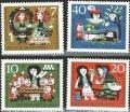 西ドイツ切手 社会福祉 1962年 社会福祉 グリム童話 白雪姫 4種