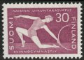 フィンランド切手 1959年 体操選手 1種