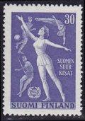 フィンランド切手 1956年 体操選手 1種