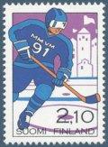 フィンランド切手 1991年 アイスホッケー スポーツ 1種