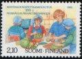 フィンランド切手 1991年 家庭科 教育 1種