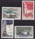 フランス切手 1959年 マルクール原子力センター 技術近代化 4種