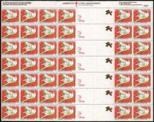 画像1: アメリカ 1990年 クリスマスシール シート