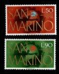 サンマリノ切手 1974年 UPU 2種