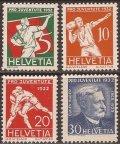 スイス切手 1932年 オイゲン・フーバー スポーツ 4種
