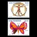 サンマリノ切手 2006年 ユーロ切手統合 2種