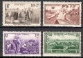 フランス切手 1940年 国家援助 4種