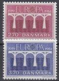 デンマーク切手  1984年  ヨーロッパ 2種
