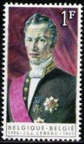 ベルギー切手  1965年 ジョセフ・ルボー 1種