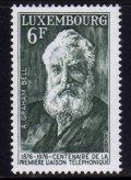 ルクセンブルク切手  1976年 アレクサンダー・グラハム・ベル 1種