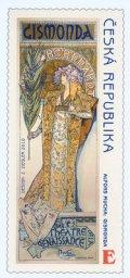 チェコ切手 2010年 絵画 ミュシャ生誕150年 1種