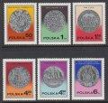ポーランド切手 1977年 切手の歴史銀貨 6種