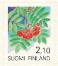 フィンランド切手 1991年 植物の実 ナナカマド 1種