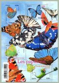 フランス切手 2010年 蝶 小型シート