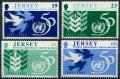 ジャージー島 切手 1995年 国連50周年 4種