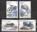ベルギー切手 1995年 バイク 4種