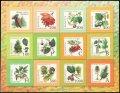 ベラルーシ切手 2004年 木,低木 オーク 12種【小型シート】