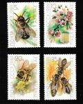 ロシア 旧ソ連切手1989年 蜂 4種