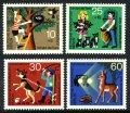 ドイツ ベルリン切手 1972年 青少年福祉 4種