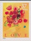 アメリカ切手  2005年 花 花束 1種