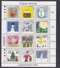 ガーンジー島切手 1991年 児童画 クリスマス 12種 シート