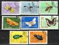 ルーマニア切手 1964年 昆虫 8種