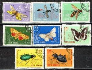 画像1: ルーマニア切手 1964年 昆虫 8種