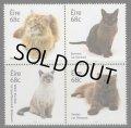 アイルランド切手 2014年 ネコ 4種