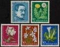 スイス切手 1960年 セイヨウタンポポ クサキョウチクトウ ほか 児童福祉