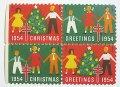 アメリカ1954年クリスマスシール