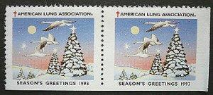 画像1: アメリカ1993年 クリスマスシール